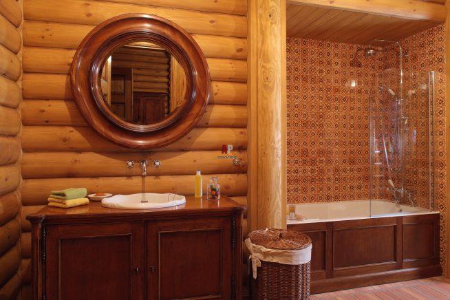 ванная комната в этническом английском стиле