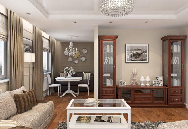 Меблирование гостиной в ретро стиле