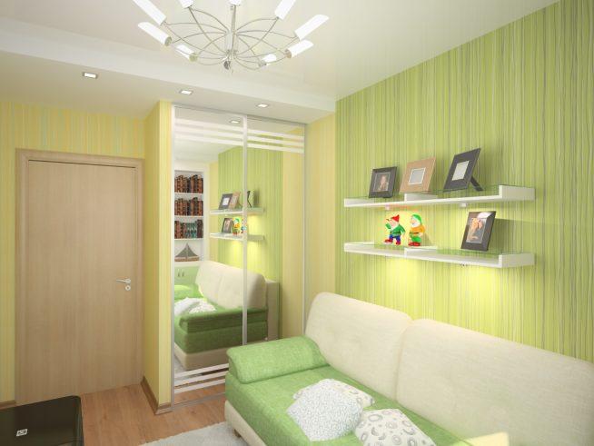 Особенности освещения маленькой комнаты