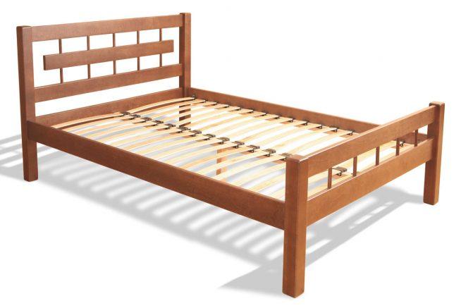 Строение кровати с деревянным основанием