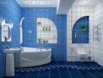 Классический потолок в ванной комнате