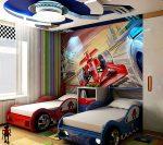 Автомобильный стиль в детской для мальчиков