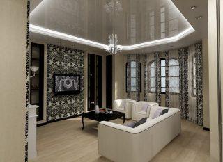 Ар-деко и многоуровневый потолок