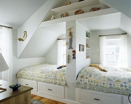 Спальная зона  с перегородкой