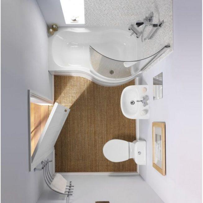 Компактная ванная: вид сверху