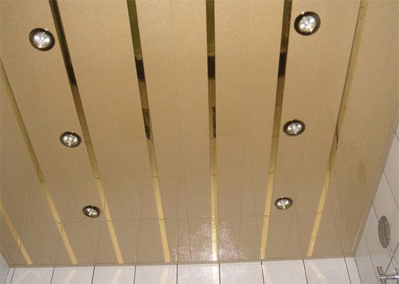 Встраиваемые светильники на готовом реечном потолке