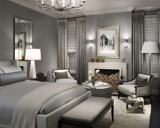 Спальня модерн в серых тонах