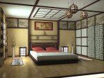 Японский стиль оформления спальни