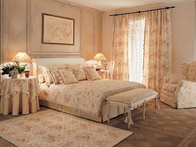 Тепло и уют прованса в спальном интерьере