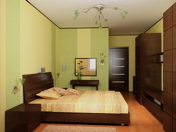Акцент на выгодах планировки в спальне