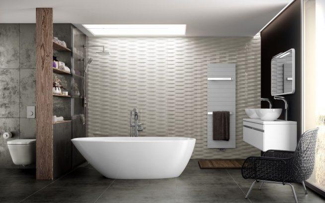 Японский стиль в ванной: игра освещения