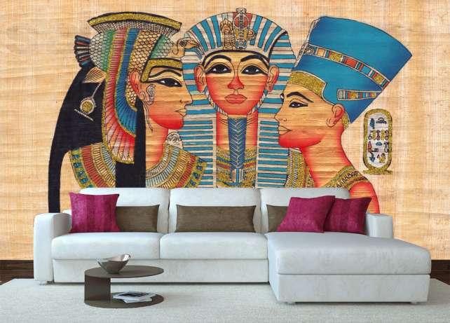 Крупнопесочные фотообои в египетском стиле