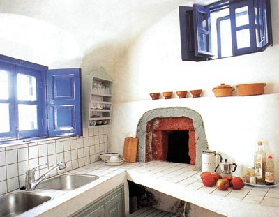 средиземноморский стиль на кухне