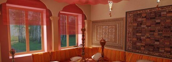 Интерьер комнаты в восточном стиле своими руками