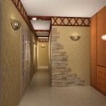 Декоративный камень в интерьере прихожей: несколько интересных вариантов