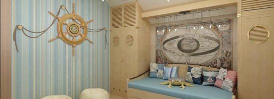 Как оформить комнату в морском стиле своими руками
