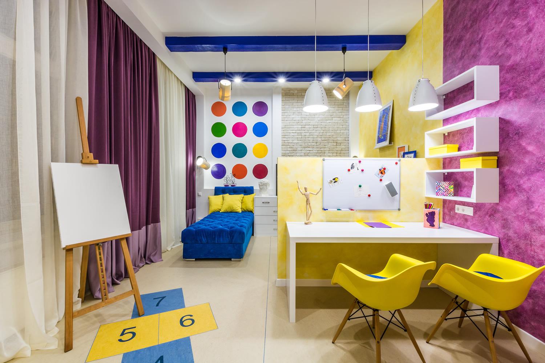 Особенности отделки стен в детской комнате