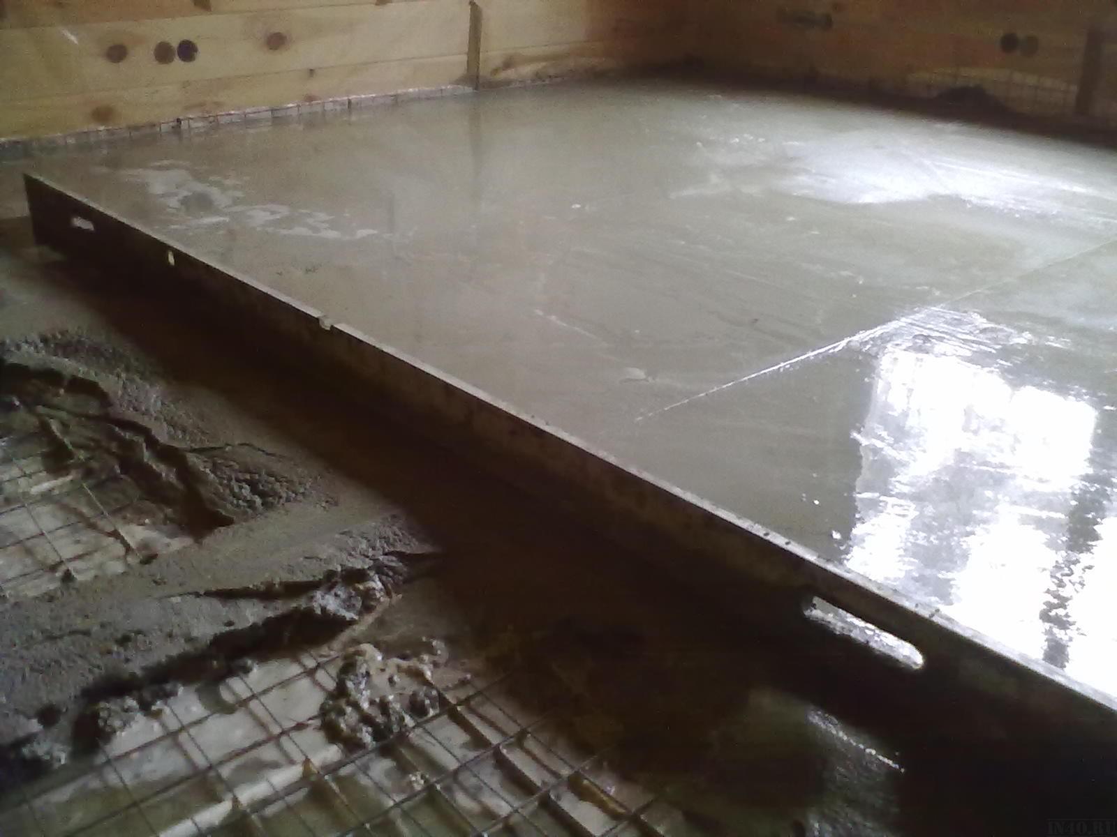 Как сделать бетонный пол
