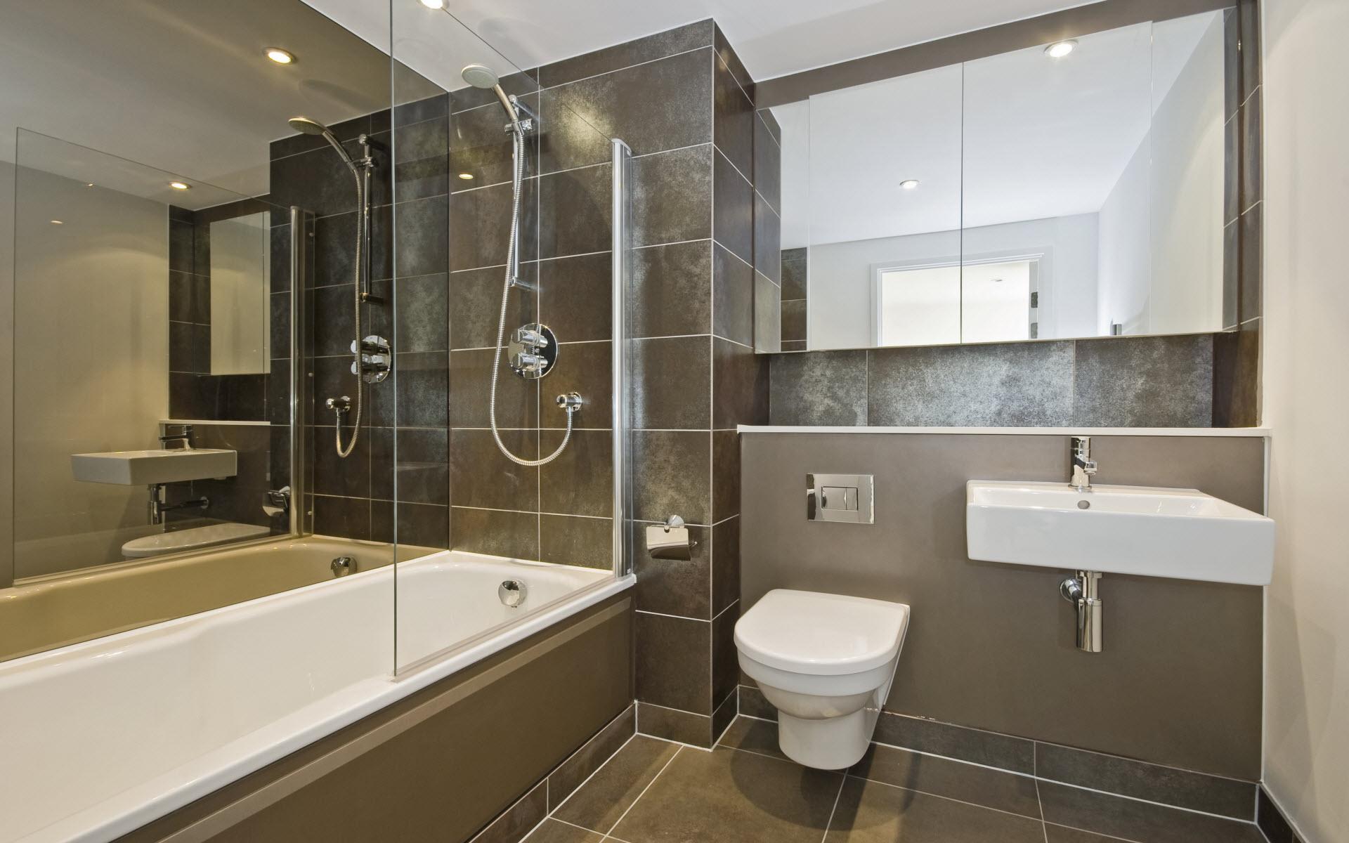 Дизайн ванной комнаты 3 кв м.