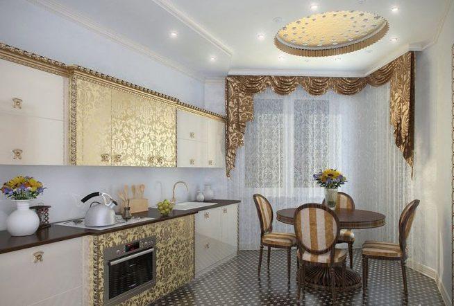 Золотая элементы на кухне