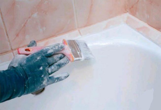 Покраска ванны