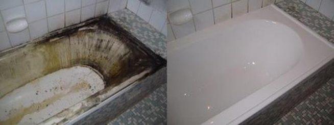 Ванна после до и после реставрации
