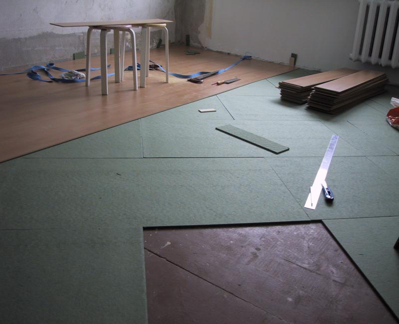 подложка для ламината на бетонный пол