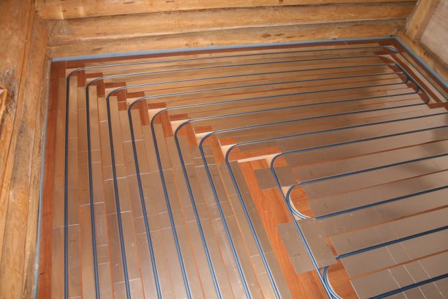 Водяной пол на деревянном перекрытии