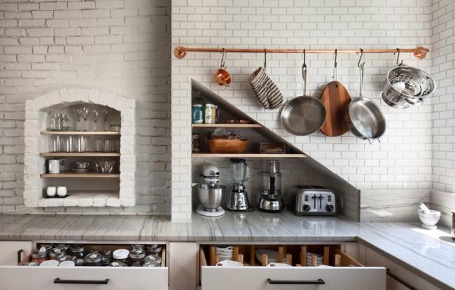 Рейлинговая система на кухне