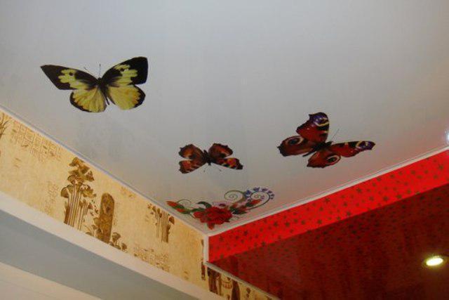 Декоративные наклейки для ремонта натяжного потолка