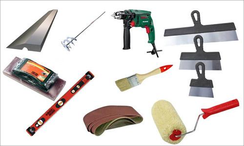Инструменты для подготовки стен к покраске