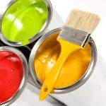 красивая стена  водоэмульсионная краска