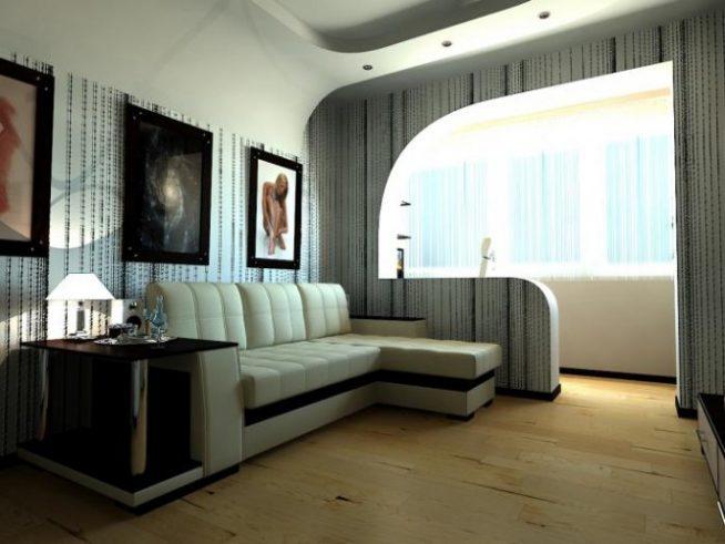 Балкон и гостиная — единое целое