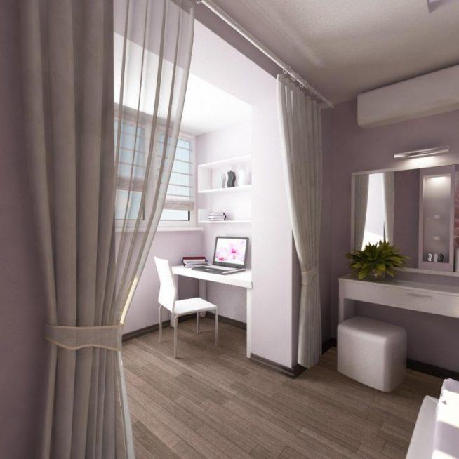 Цвет балконной части светлее комнаты