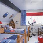 Детская комната в морском стиле для мальчика