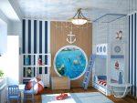 Детская в морском стиле для мальчика