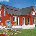 Дом с красным фасадом