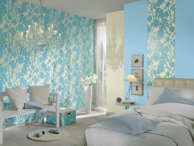 Голубой цвет спальня