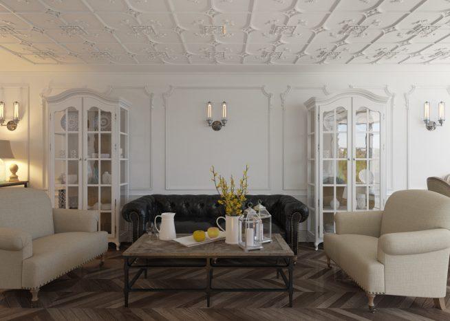 Применение лепнины на потолке
