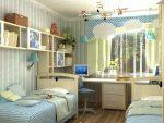 Расположение мебели в небольшой детской