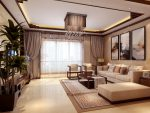 Многослойные шторы с ларекеном в тон обивки мебели