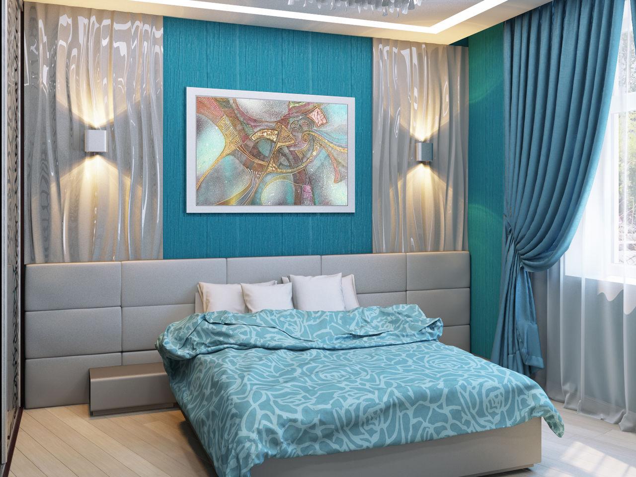 Спальня в голубых тонах картинки приземлится, бассейн
