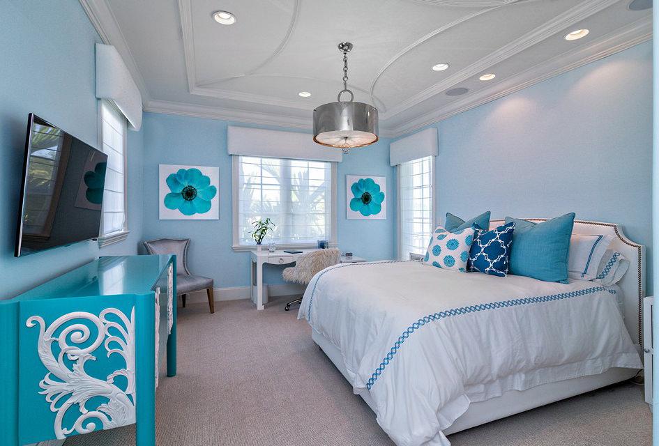 спальня в голубых тонах картинки уникальный стиль характеризуется