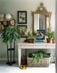 Уютный интерьер прихожей с комнатными растениями