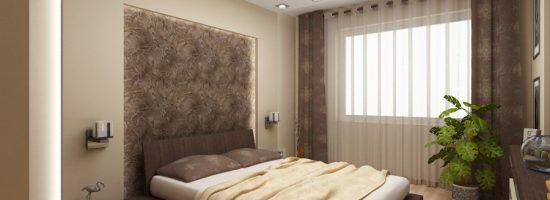 Дизайн спальни 9 кв. м.