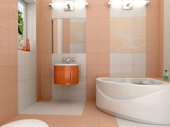 Пред просмотр ванной комнаты в цифровом формате