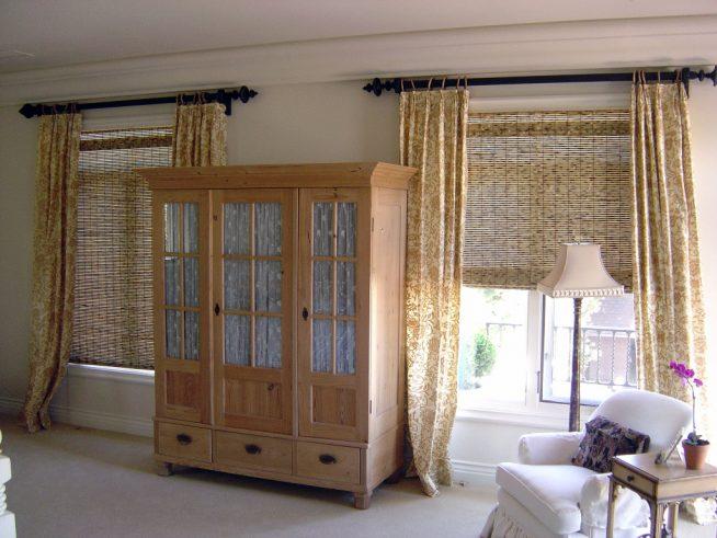 Бамбуковые шторы для спальни