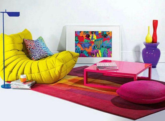 Яркая мебель в стиле авангард