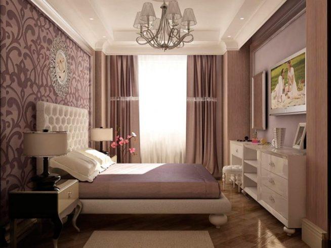 маленькая спальня в сиреневых тонах