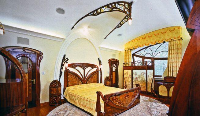 Спальня в оформлении модерн